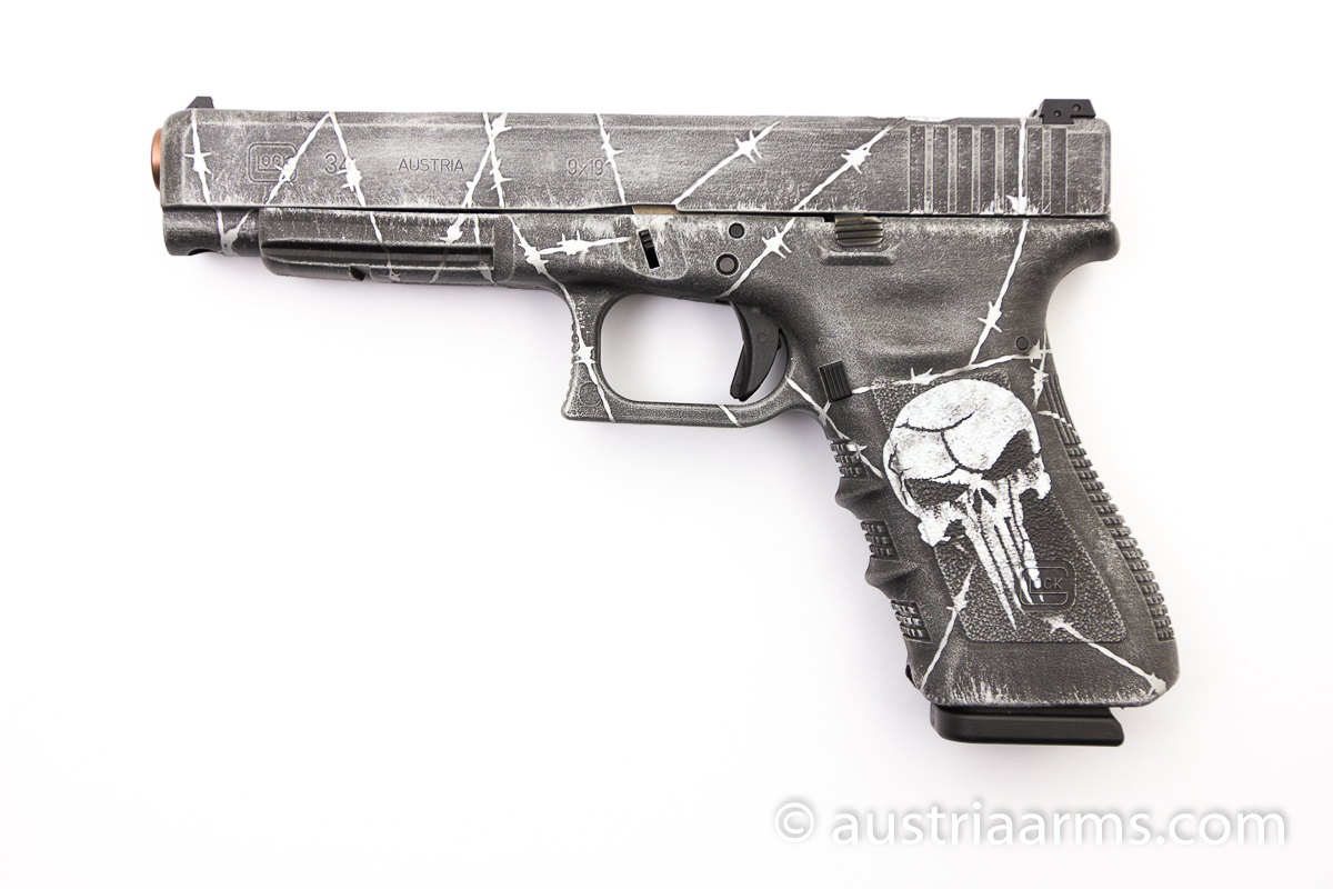 Glock 34 Custom Punisher, 9 x 19 mm - Image 1
