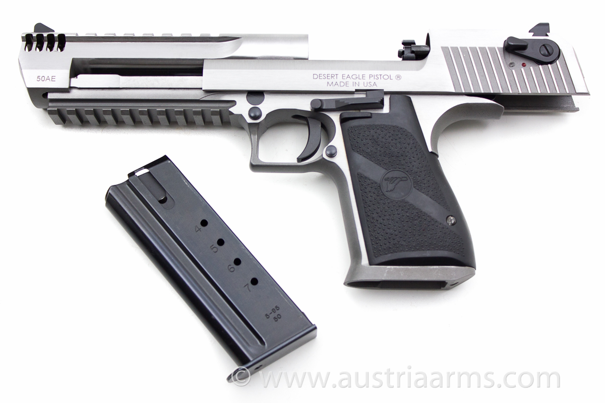 Desert Eagle XIX Stainless Steel Brushed, compensated .50 AE - Image 3