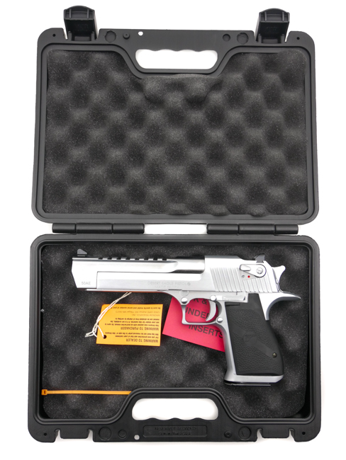 Desert Eagle, .50 Action Express, Brushed Chrome - Image 7